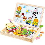 Bino Farm Magnetic Board with Puzzles