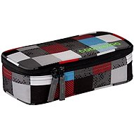 CoocaZoo Pencil Denzel Chequered Blue Red - School Case