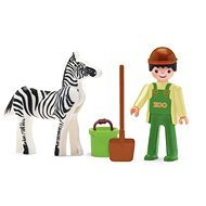 IGRÁČEK - Zoo Keeper and Zebra - Game Set