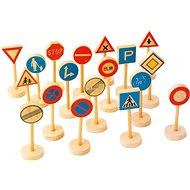 Large wooden children's traffic signs - Game set