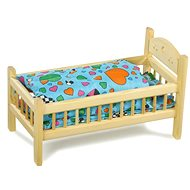 Natural Crib for Dolls - Doll Furniture