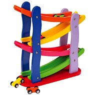 Wooden Racing Track and 4 Cars - Educational Toy