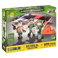 Cobi 3 Figures with Accessories US Army - Building Kit