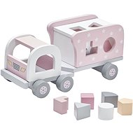 Truck with Wooden Pink Blocks - Toy Vehicle