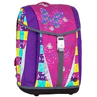 Girl's School Briefcase with Bow Ties Bagmaster Polo 7 Pink/Violet - Briefcase