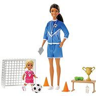 Barbie Football Trainer with Doll Game Set, Black Woman - Doll