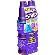 Kinetic Sand Pack of 3 pastel-coloured crucibles