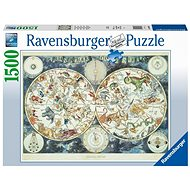 Ravensburger 160037 World Map of Fantastic Animals 1500 pieces