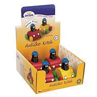 Whistling mole in a toy car - Wooden Toy