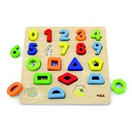 Wooden insert game - numbers and shapes - Puzzle