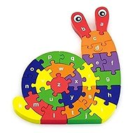 3D Puzzle - Snail with letters - Wooden Puzzle