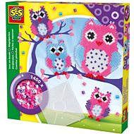 SES Ironing beads - owl with a large pad - Beads