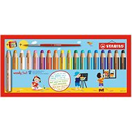 Stabilo Woody 18 colours, round, maxi, STABILO - Coloured Pencils