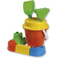 Androni Set of Sand Castle with Ramparts - Medium, Red