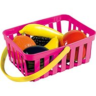 Androni Shopping Basket with Fruit - 6 pieces, Pink