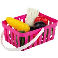 Androni Shopping Basket with Vegetables - 10 Pieces, Pink - Set