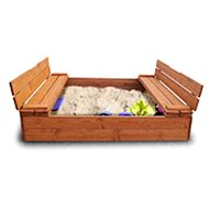 Sandpit with deck and benches 120 - Sandpit