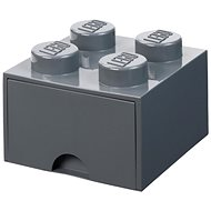 LEGO storage box 4 with drawer - dark gray - Storage Box