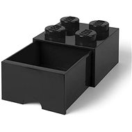 LEGO table box 4 with drawer - black - Storage Box
