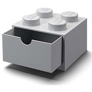 LEGO table box 4 with drawer - gray - Storage Box