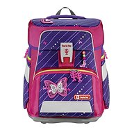 SPACE school briefcase for first-graders - 5-piece set, Step by Step Glittering Butterfly, AGR certificate - School Set