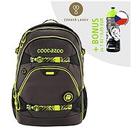 School backpack coocazoo ScaleRale TecCheck Neon, lumbar strap with integr. Powerbank - School Backpack