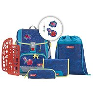School briefcase / backpack 2V1 for first graders - 6-piece set, Step by - School Set