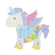 Puzzle with numbers - Unicorn