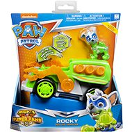 Paw Patrol Mighty Pups Super Paws Rocky's Deluxe Vehicle with Lights and Sounds - Game Set