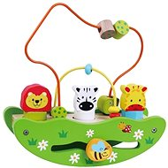 Wooden boat labyrinth with animals sun baby AB1974, E01.010.1.1 - Wooden Toy