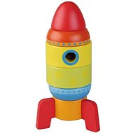 Wooden jigsaw rocket 6 parts sun baby AB4477, E01.003.1.1 - Wooden Toy