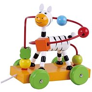 Wooden riding interactive toy zebra AB1973, E01.011.1.1 - Wooden Toy