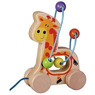 Wooden pulling giraffe with labyrinth sun baby AB3335, E01.006.1.1 - Wooden Toy