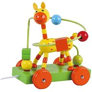 Wooden pulling giraffe with labyrinth sun baby AB3352, E01.008.1.1 - Wooden Toy