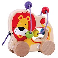 Wooden pulling labyrinth of lion sun baby AB3341, E01.007.1.1 - Wooden Toy