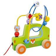 Wooden tow maze toy car baby AB3354, E01.009.1.1 - Wooden Toy