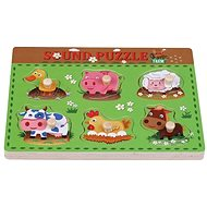 Wooden puzzle farm with sun baby sounds AB6362, E01.025.1.1 - Wooden Puzzle