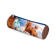 Cylindrical case case Horses - School Case