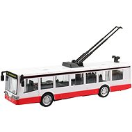 Trolleybus Reversible Metal, 16 x 2,7 x 2,7, with Light and Sound - Toy Car