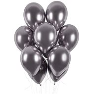 Chrome-plated Balloons 50 pcs Space Grey Glossy - Diameter of 33cm - Balloons