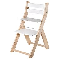 Growing chair Wood Partner Sandy Color: lacquer / white - Children's Chair
