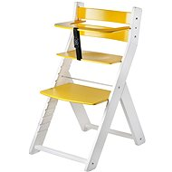 Growing chair Wood Partner Luca Kombi Color: white / yellow - Children's Chair