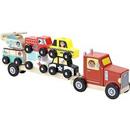 Vilac Wooden truck with toy cars for deployment - Wooden Toy