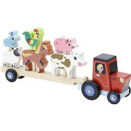 Vilac Wooden tractor with animals for mounting