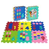 Foam puzzle 6 pcs - numbers and shapes - Foam Puzzle