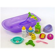 Bathing set for dolls with accessories - Doll Accessory