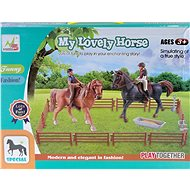 Horses with accessories - Set