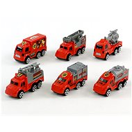 Set of fire trucks on the card - Toy Car Set