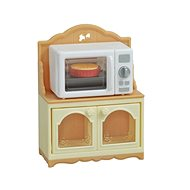 Sylvanian families Furniture - cabinet with microwave oven - Figure