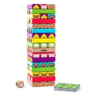 WOODY Sammy Jenga Tower with Animals - Game